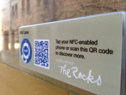 The Rocks in Sydney using NFC to help guide tourists around the city